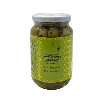 Moroccan Pitted Picholine Green Olive 13.4oz