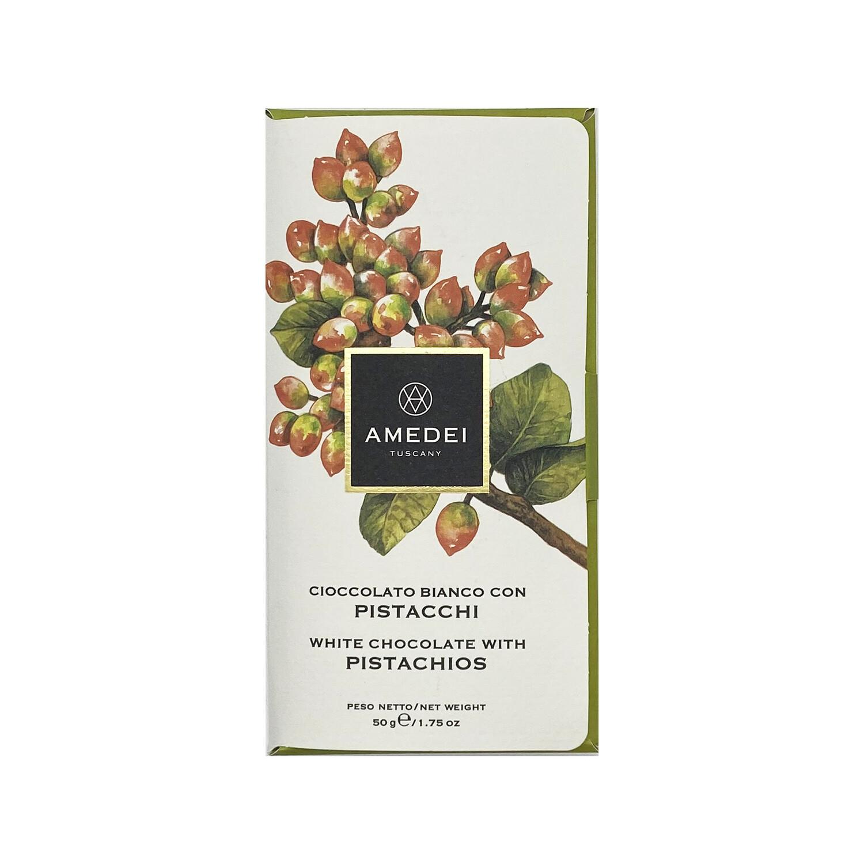 Amedei White Chocolate with Pistachios Italy 1.75oz