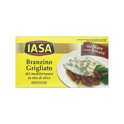 IASA Branzino Grilled Sea Bass in Olive Oil Italy 2.57oz