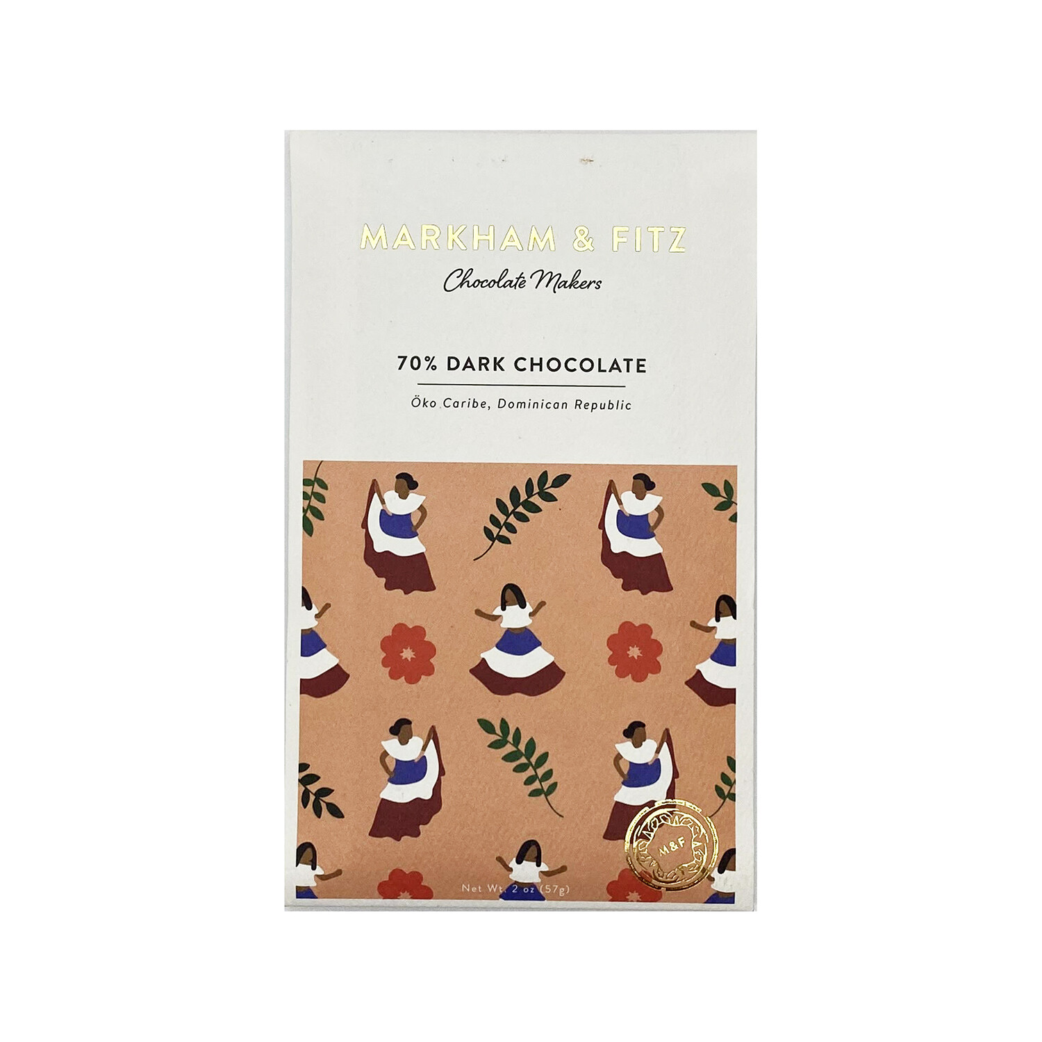 Markham & Fitz 70% Dark Chocolate Dominican Republic 2oz