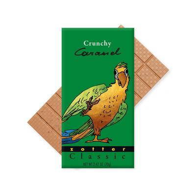Zotter Crunchy Caramel Chocolate Austria 2.47oz