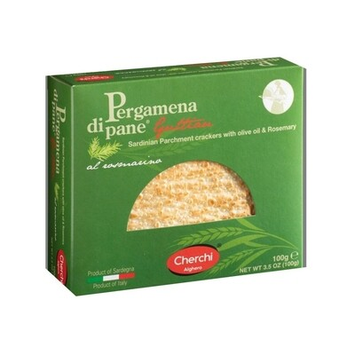 Cherchi Sardinian Parchment Crackers with Olive Oil & Rosemary Italy 3.5oz