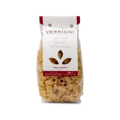 Verrigni Mezi Rigatoni Durum Wheat Pasta 1.1lb Italy