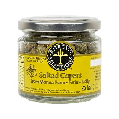 Ritrovo Salted Capers Sicily Italy 6.4oz