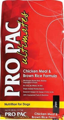 Pro Pac Ultimates Chicken Meal & Brown Rice Dog Food 28 lbs