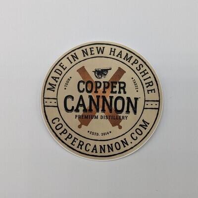 Copper Cannon Circle Sticker