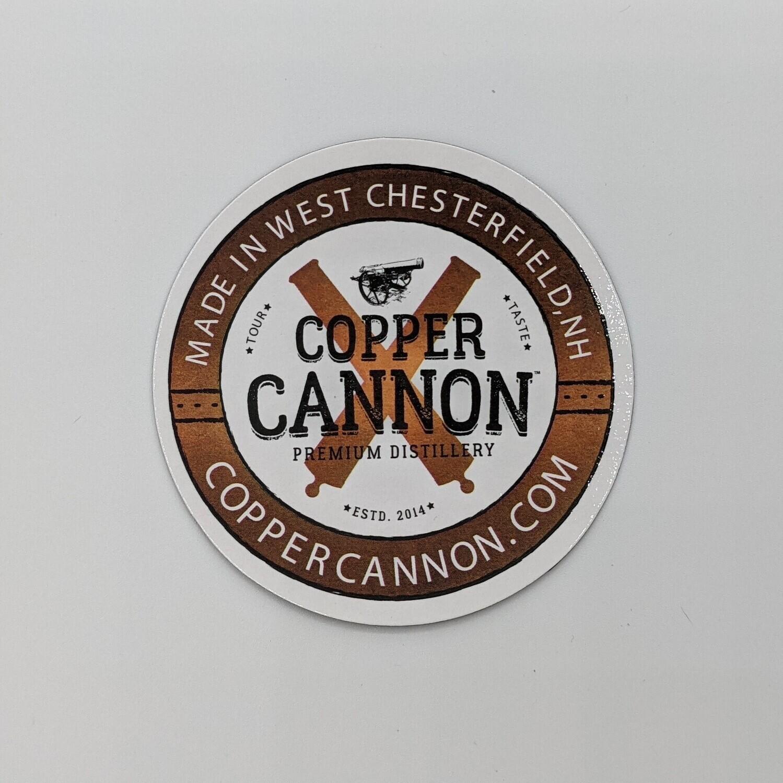 Copper Cannon Circle Magnet