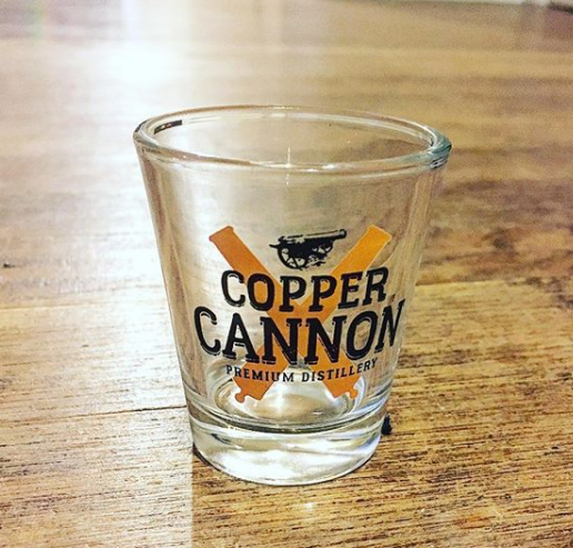 Copper Cannon Shot Glass, 1.5 oz