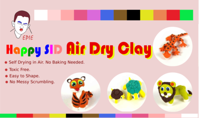 Happy SID Air Dry Clay-3Pack, 12 colors, free shipping