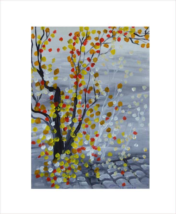 Original Painting on Sale: Fall Foliage