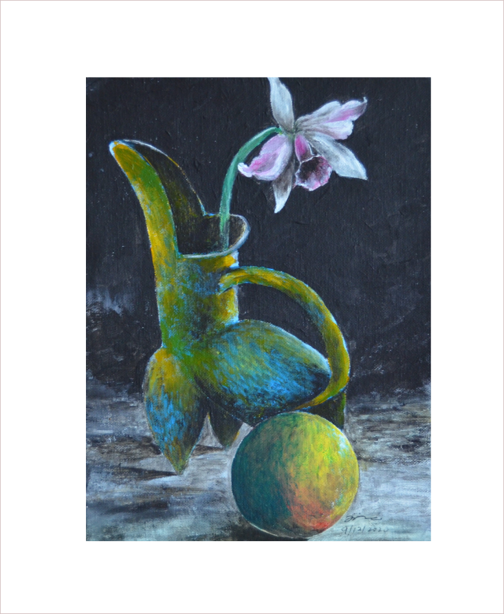 Original Painting on Sale: Vase and Flower