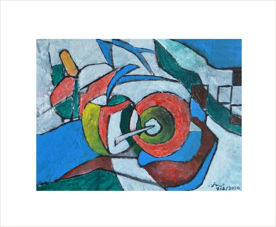 Original Painting on Sale: Apple