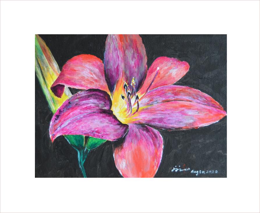 Original Painting on Sale: Flower