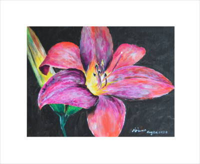 Original Painting on Sale: Flower