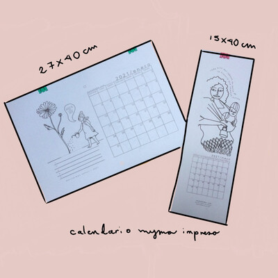 Calendario compacto myma de porteo