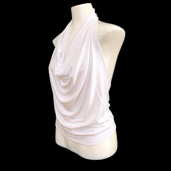 Yoga Falten-Shirt - Weiß
