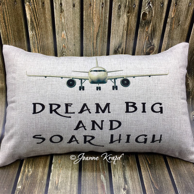 "Dream Big and Soar High Lumbar Pillow - 12"" x 20"""