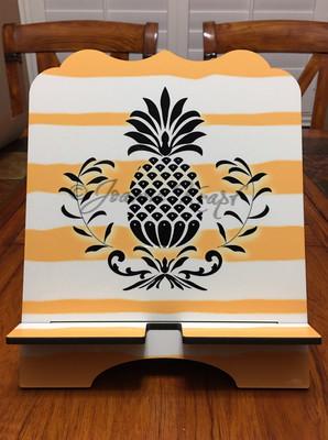 "Tablet / Cookbook Stand - ""Pineapple Stripes"""
