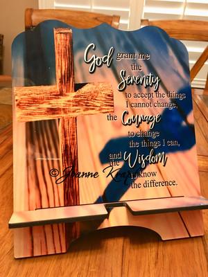 "Tablet / Cookbook Stand - ""Serenity Prayer"""