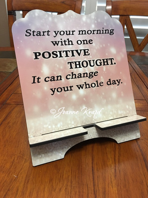 """Tablet / Cookbook Stand - """"Positive Thoughts"""""""