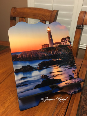 """Tablet / Cookbook Stand - """"Lighthouse Dreams"""""""
