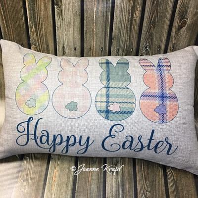 """Happy Easter Lumbar Pillow  - 12"""" x 20"""""""