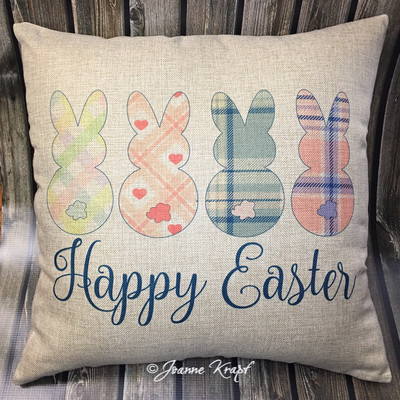 Happy Easter Square Pillow