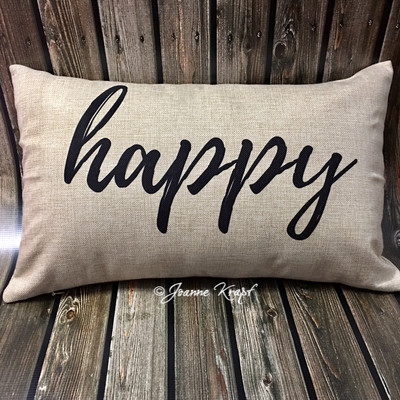 """Happy Lumbar Pillow - 12"""" x 20"""""""