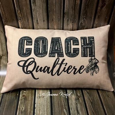 "COACH Lumbar Pillow - 12"" x 20""  (personalized)"
