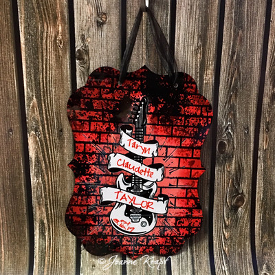 Personalized Guitar Sign
