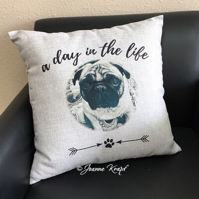 A Day In The Life Square Pillow (Personalized)