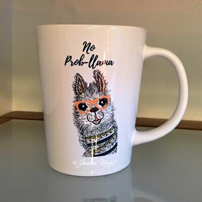 Latte Cup  (12oz) - No Prob Llama