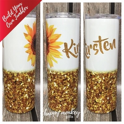 Build Your Own Tumbler! (Glitter Style)
