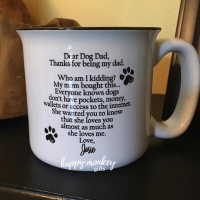 Ceramic Camp Style Mug - Dear Dog Dad