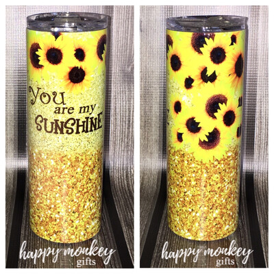 You Are My Sunshine With Sunflowers Tumbler