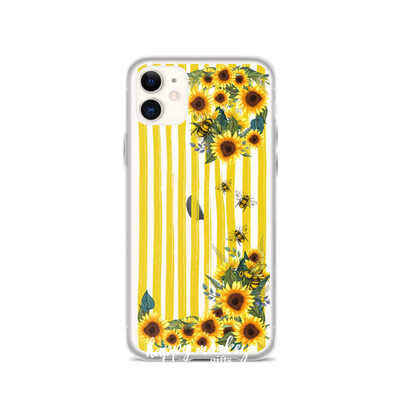 Sunflowers and Bees Phone Case