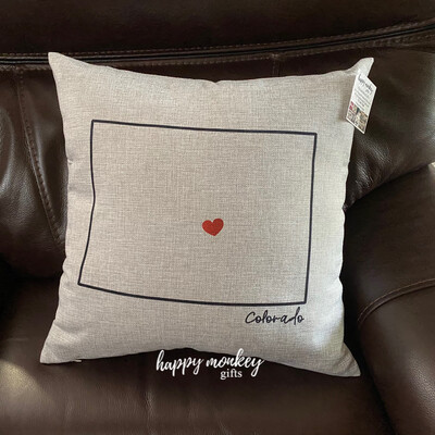 Where My Heart Lives Square Pillow