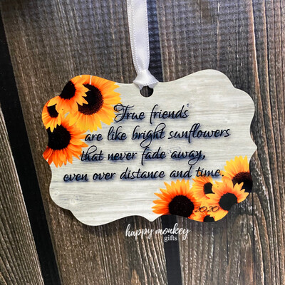 Friendship Ornament With Sunflowers