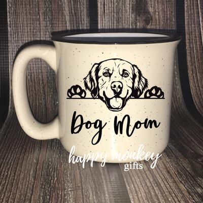 Ceramic Camp Style Mug - Dog Mom