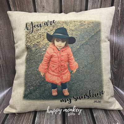Add Your Own Picture Square Pillow