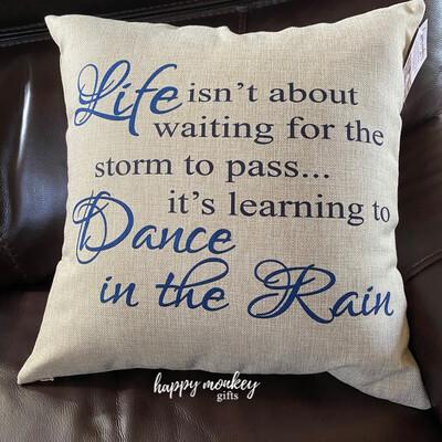 Dance In The Rain Square Pillow