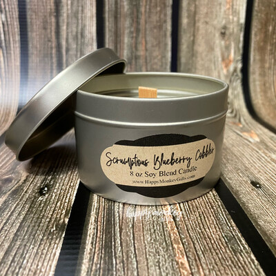 Happy Scents Candle - Scrumptious Blueberry Cobbler Soy Blend