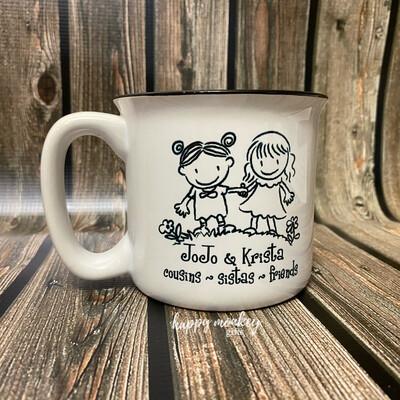 Ceramic Camp Style Mug - Best Friends Forever (single)