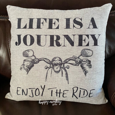 Life Is A Journey Enjoy The Ride Square Pillow