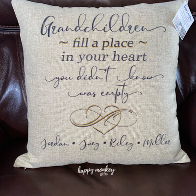 Grandchildren Fill A Space In Your Heart Square Pillow