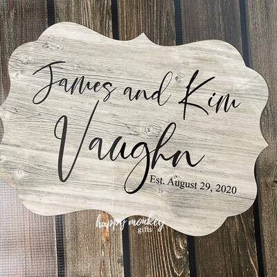Personalized Wedding / Anniversary Sign