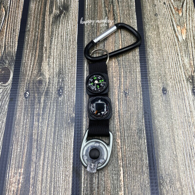 Munkees Key Fob - Compass, Thermometer and LED Light