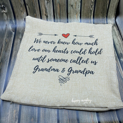 SALE ITEM We Never Knew...Our Hearts Could Love Square Pillow