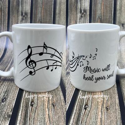 Music Will Heal Your Soul - 11oz Coffee Mug