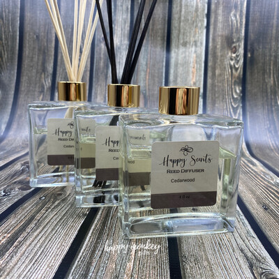 Reed Diffuser - Glass Square With Bamboo Reeds